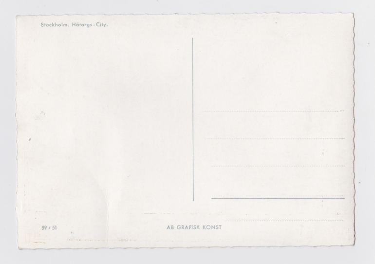Postcard with blank reverse side