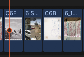 screenshot of movie timeline