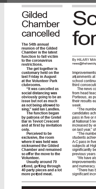 Gilded Chamber cancelled - the hawick paper